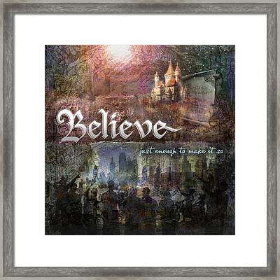 Believe Framed Print by Evie Cook