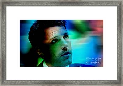 Ben Affleck Framed Print by Marvin Blaine