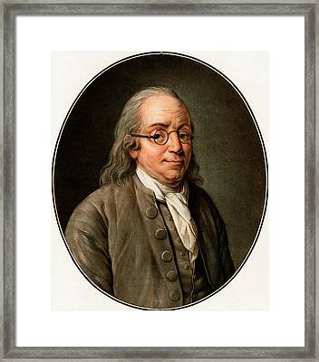 Benjamin Franklin Framed Print by American Philosophical Society