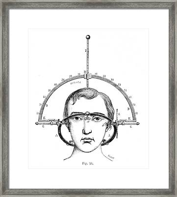 Bertillons Anthropometry, 1883 Framed Print by British Library
