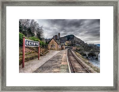 Berwyn Railway Station Framed Print by Adrian Evans
