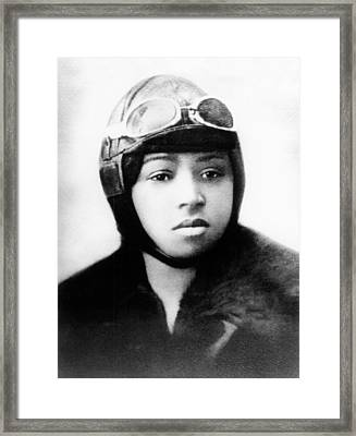 Bessie Coleman, American Aviator Framed Print by Science Source