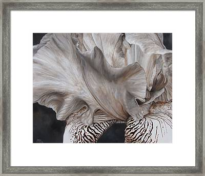 Between The Lines Framed Print by Karlyn Holloway