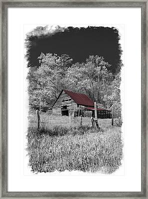 Big Red Framed Print by Debra and Dave Vanderlaan