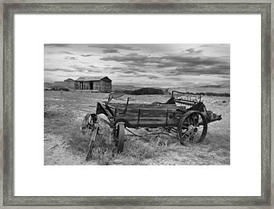 Bighorn Basin History Framed Print by Leland D Howard