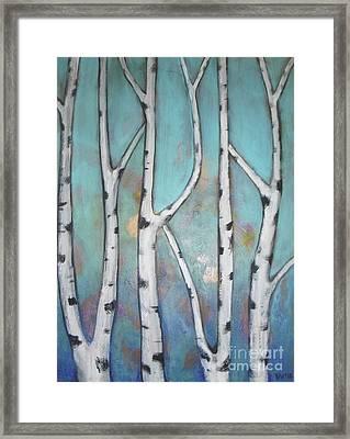 Birch Trees Framed Print by Vesna Antic