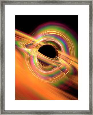 Black Hole Framed Print by Alfred Pasieka