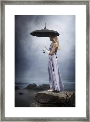 Black Umbrella Framed Print by Joana Kruse
