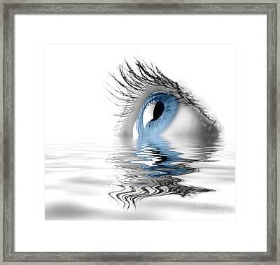 Blue Eye Framed Print by Oleksiy Maksymenko