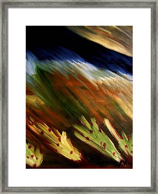 Blue Wheatie Framed Print by Bamhs Blair