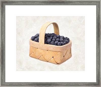 Blueberry Basket Framed Print by Danny Smythe