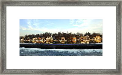 Boathouse Row Framed Print by Andrew Dinh