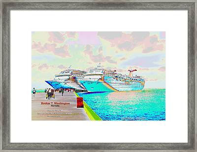 Booker T. Washington Hornets Class Of '79 And '84 Reunion Cruise Commemorative Issue Framed Print by Bryan Eaton