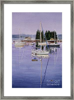 Boothbay Harbor Framed Print by Karol Wyckoff