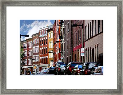 Boston Street Framed Print by Elena Elisseeva