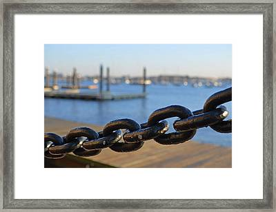 Boston Waterfront Framed Print by Toby McGuire