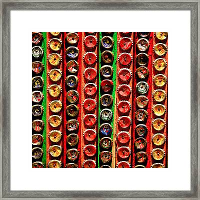 Bottle Caps Framed Print by Art Block Collections
