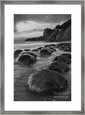 Bowling Ball Beach At Sunrise Framed Print by Keith Kapple