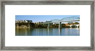 Bridge Across A River, Walnut Street Framed Print by Panoramic Images