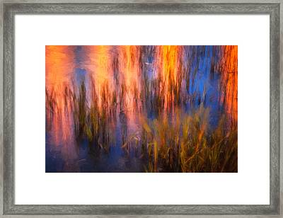 Bridge Of Lions Reflections St Augustine Florida Painted    Framed Print by Rich Franco