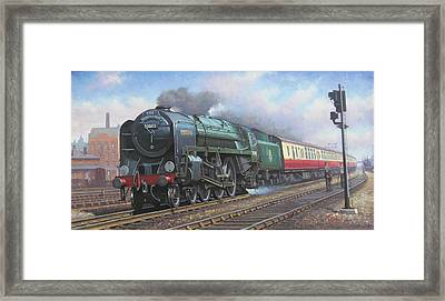 Britannia Pacific. Framed Print by Mike  Jeffries