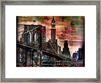 Brooklyn Bridge Framed Print by Christine Mayfield