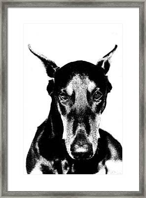 Brown Eyed Girl Framed Print by Rita Kay Adams