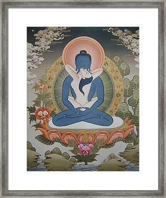 Buddha Shakti Thangka Painting Framed Print by Ts