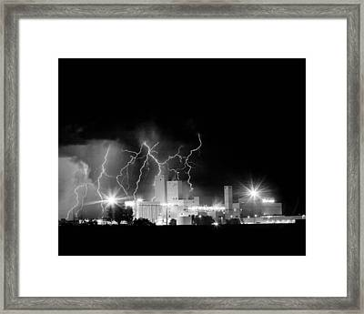 Budweiser Lightning Thunderstorm Moving Out Bw Framed Print by James BO  Insogna