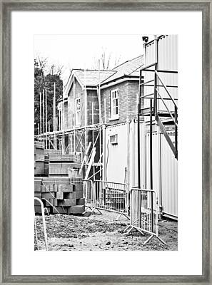 Building Site Framed Print by Tom Gowanlock