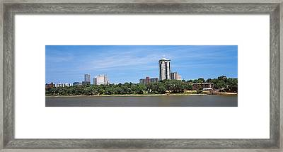 Buildings At The Waterfront, Arkansas Framed Print by Panoramic Images
