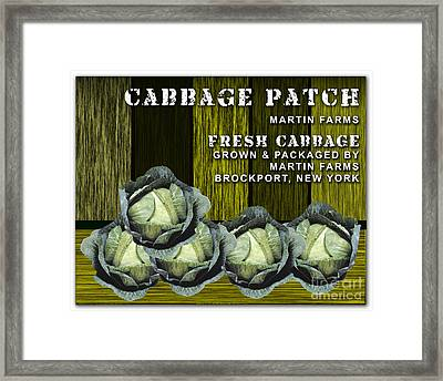 Cabbage Farm Framed Print by Marvin Blaine