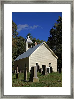 Cades Cove Primitive Baptist Church Framed Print by Dan Sproul