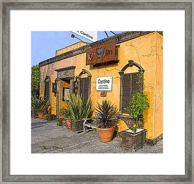 Cantina Framed Print by Chuck Staley