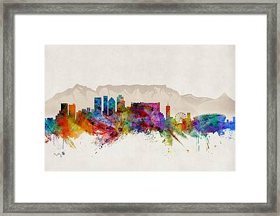 Cape Town South Africa Skyline Framed Print by Michael Tompsett