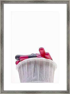 Capsules Framed Print by Science Stock Photography