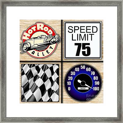 Speed Demon Art For Boys And Men Framed Print by Marvin Blaine