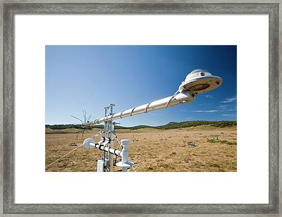 Carbon Dioxide Exchange Experiment Framed Print by Ashley Cooper