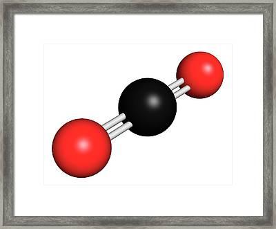 Carbon Dioxide Molecule Framed Print by Molekuul