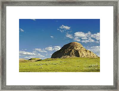 Castle Butte Framed Print by Charline Xia