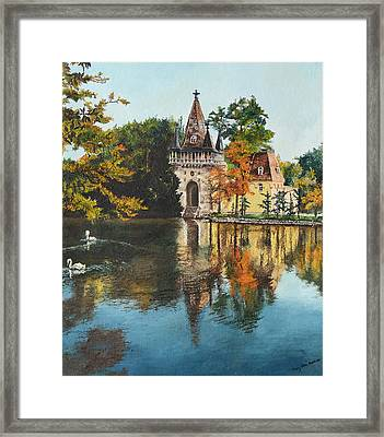 Castle On The Water Framed Print by Mary Ellen Anderson