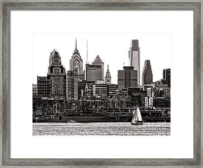 Center City Philadelphia Framed Print by Olivier Le Queinec