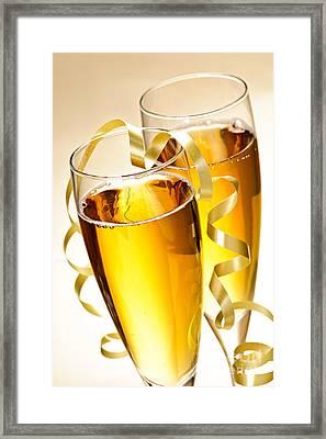 Champagne Glasses Framed Print by Elena Elisseeva