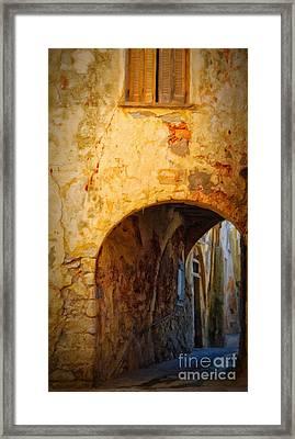 Chania Alley Framed Print by Antony McAulay