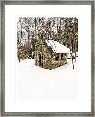 Chapel In The Woods Stowe Vermont Framed Print by Edward Fielding