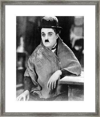 Charles Chaplin Framed Print by Silver Screen