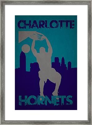 Charlotte Hornets Framed Print by Joe Hamilton