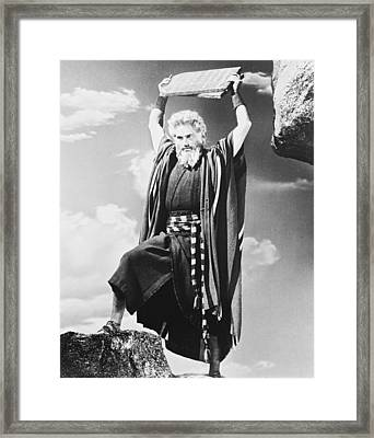 Charlton Heston In The Ten Commandments Framed Print by Silver Screen