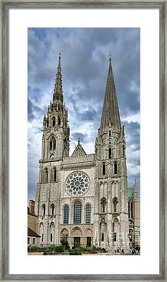 Chartres Cathedral Framed Print by Olivier Le Queinec