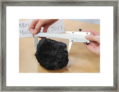 Chebarkul Meteorite Fragments Research Framed Print by Science Photo Library